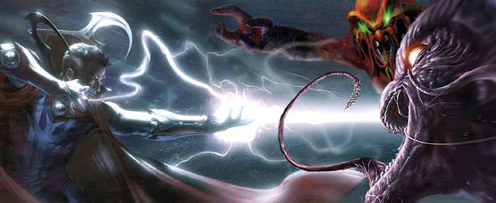 Dr. Strange vs The Dire Wraith