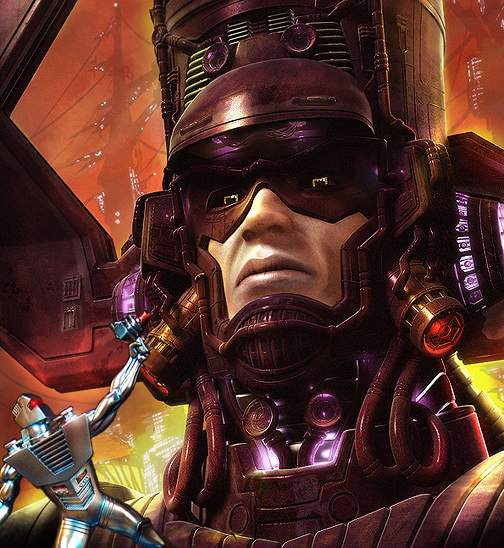Rom Vs Galactus Digital Fan Art By Csuhsux On DeviantArt