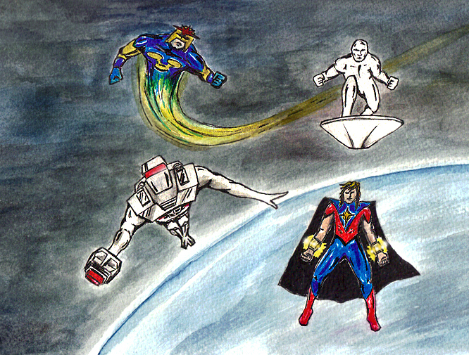 Rom spaceknight Silver Surfer Nova Quasar