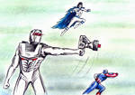 Rom spaceknight, Captain America and Sabra