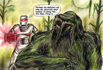 ROM spaceknight encounters The Macabre Man-Thing