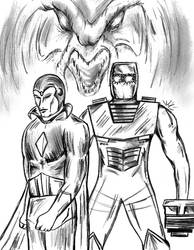 Dire Wraith War tribute with ROM and The Vision by csuhsux