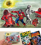 ROM spaceknight Wonder Man team up sketch card