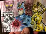 Tribute sketch card to classic ROM spaceknight