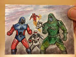 The spaceknights of Galador vs Ronan The Acussar