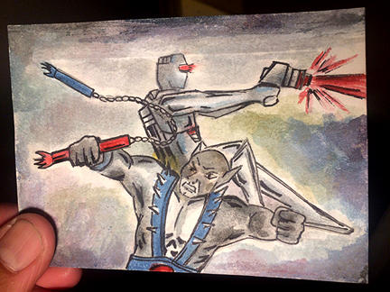 ROM and Panthro team up sketch card fan art