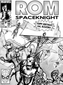 Happy Birthday Sal Buscema ROM cover concept