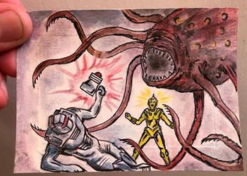 ROM spaceknight 55 homage sketch card fan art