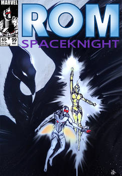 Rom and Starshine vs Deathwing cover fan art