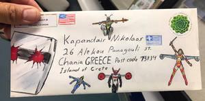 Rom spaceknight Micronauts envelope fan art
