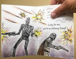 The Mandalorian fan art greeting  card by csuhsux