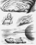 Science Fiction concept sketches 1997