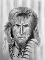 Khan Noonian Singh charcoal drawing 1994 by csuhsux