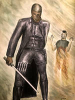 Blade The Day Walker water colors 2006 by csuhsux