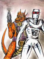 ROM spaceknight 9 tribute fan art RIP Serpentyne by csuhsux