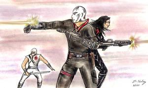 Destro Baroness Storm Shadow fan art by csuhsux
