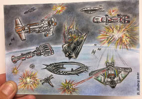 Rogue 1 Battle of Scarif Star Wars sketch card