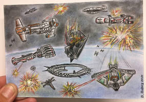Rogue 1 Battle of Scarif Star Wars sketch card by csuhsux
