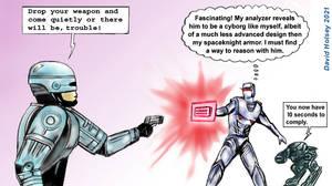 Robocop vs Rom spaceknight fan art in color