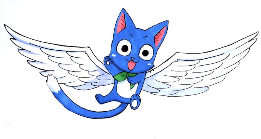 comment dessiner happy de fairy tail