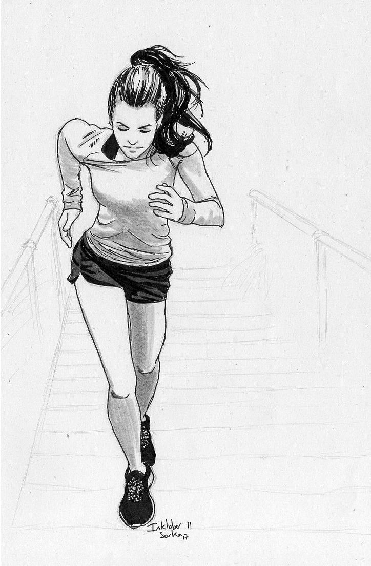 Inktober 2017 n11 Running by Sorka-of-Eawy