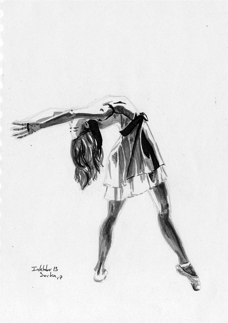 Inktober 2017 n13 Dancer by Sorka-of-Eawy