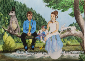 Family picture in a Miyazaki way