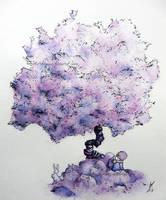 Fairy purple tree