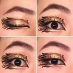 Glitter graphic eyeliner makeup