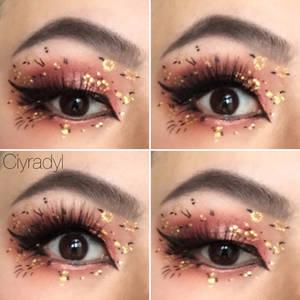 Spring floral makeup