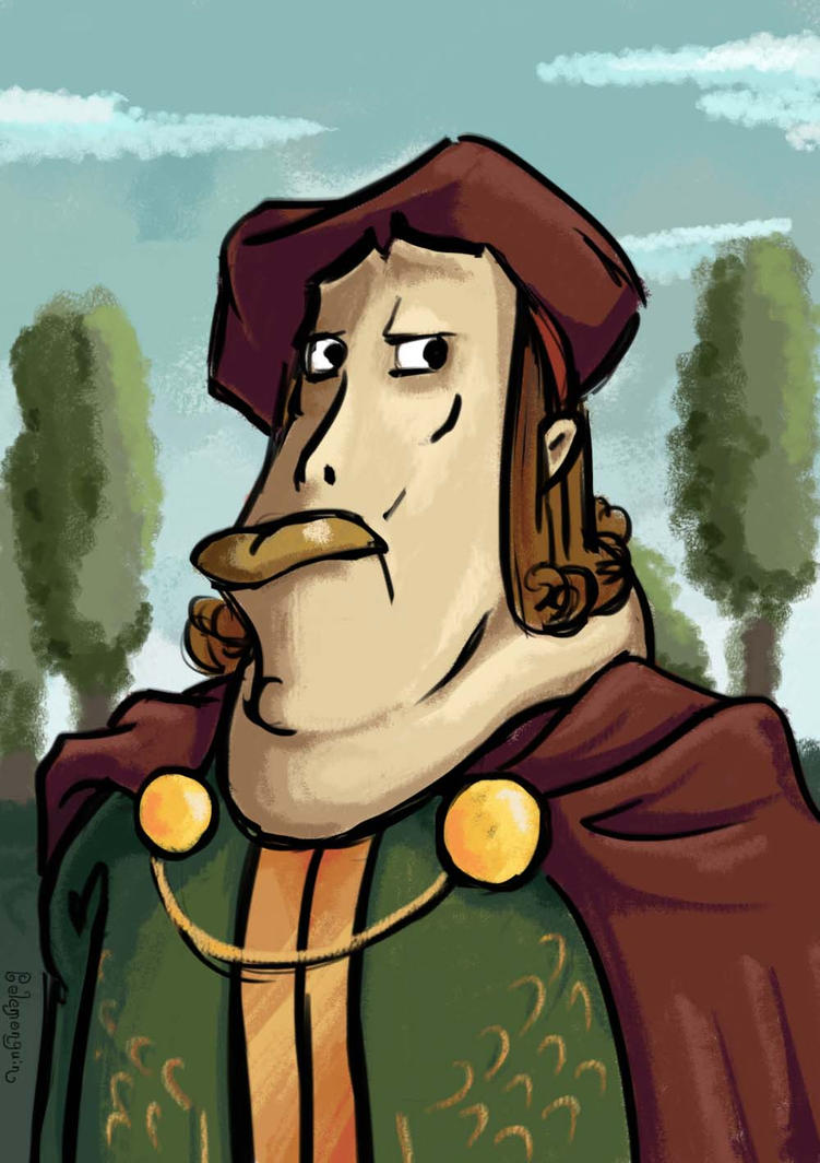 A fat renaissance fella by Belemonguin