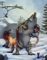 Kukuri: Hunting I - Angry Bear by SmirkCatsTales