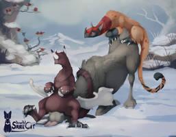 Kukuri: Hunting II - Moose by SmirkCatsTales