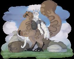 Kukuri: Heavy Load I, strong boy by SmirkCatsTales
