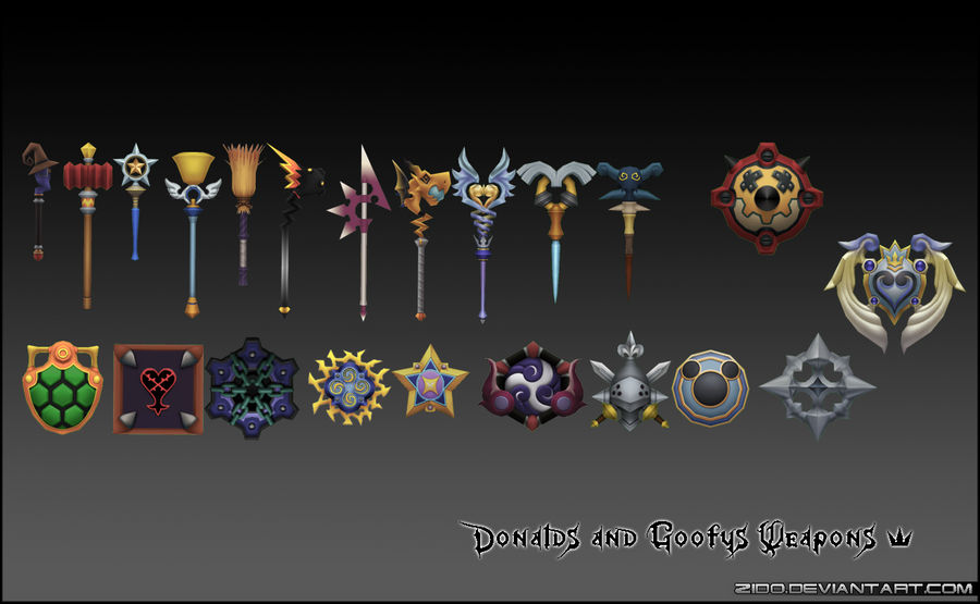 Donald's And Goofy's Weapons by Zido