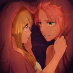 NaLu Fluff Week Day 3 Comfort / Blanket