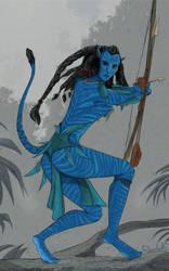 Fan Art - Na'vi Hunter by Razorbill1