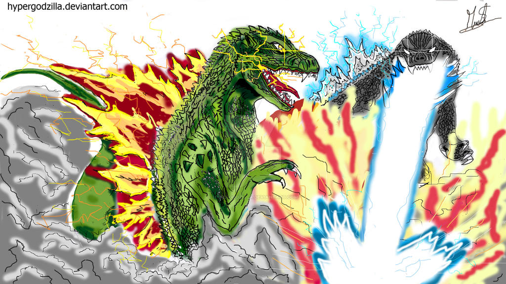 Godzilla 2000 vs GMK : Battle of Gods!! by HYPERGODZILLA ...