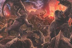 MonsterVerse: Kongs vs. Skullcrawlers War by HYPERGODZILLA