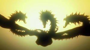 Ghidorah (Anime) full body in silhouette!