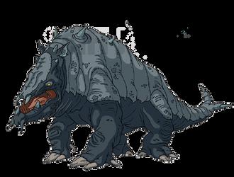 Giant Armadillo - Godzilla: The Series by HYPERGODZILLA
