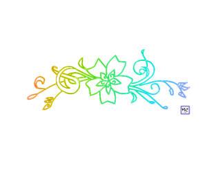 Rainbow flower pattern by MariaChrystal