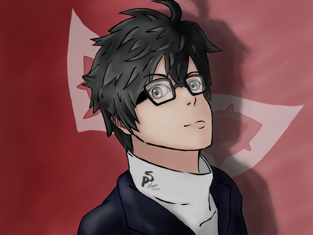 Persona 5 protagonist by MariaChrystal