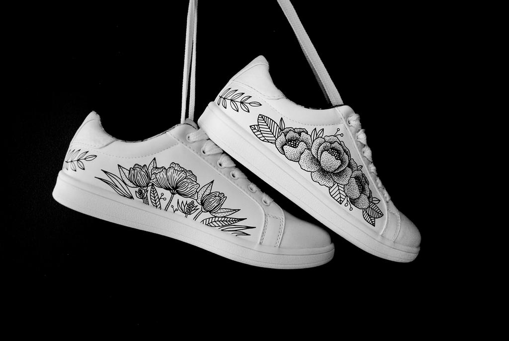 Personalized sneakers by lauramarcuet