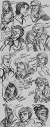 NPC Sketches 1 by the-Orator