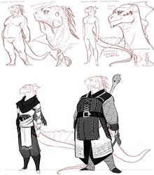 Argonian Character concpets by the-Orator