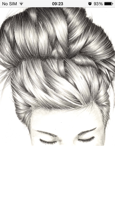 how to draw messy hair