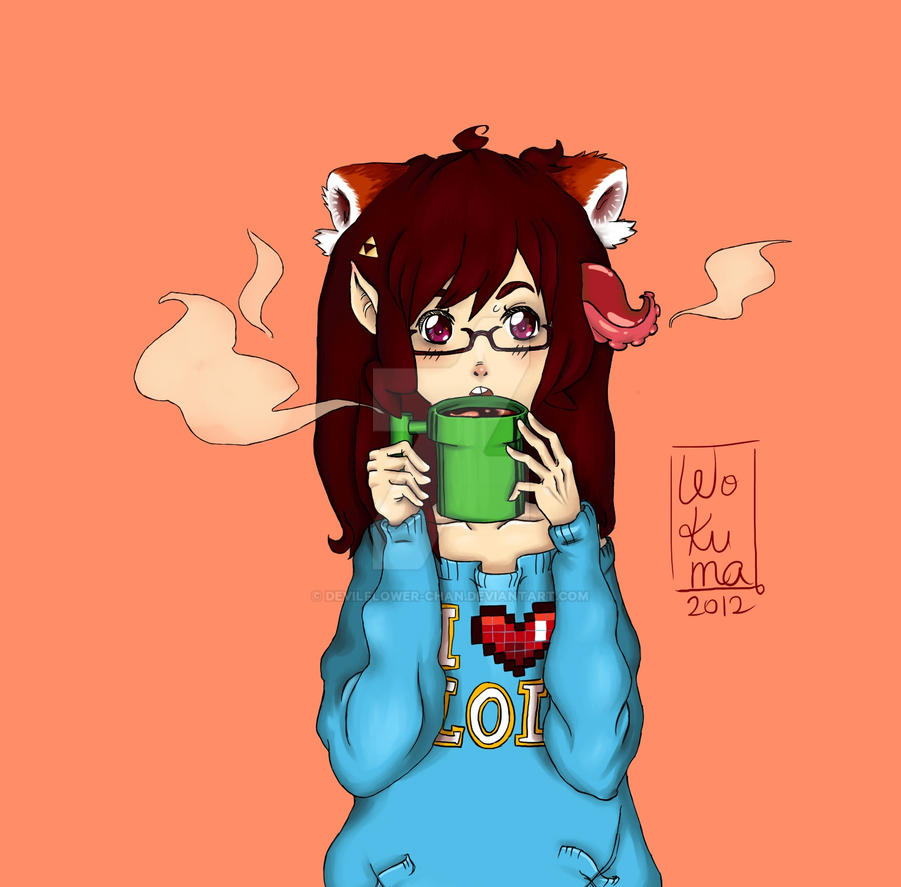 Coffee and games by Devilflower-chan