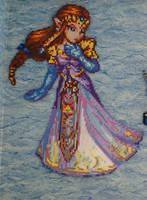 Zelda Bead Sprite by Nicolel12