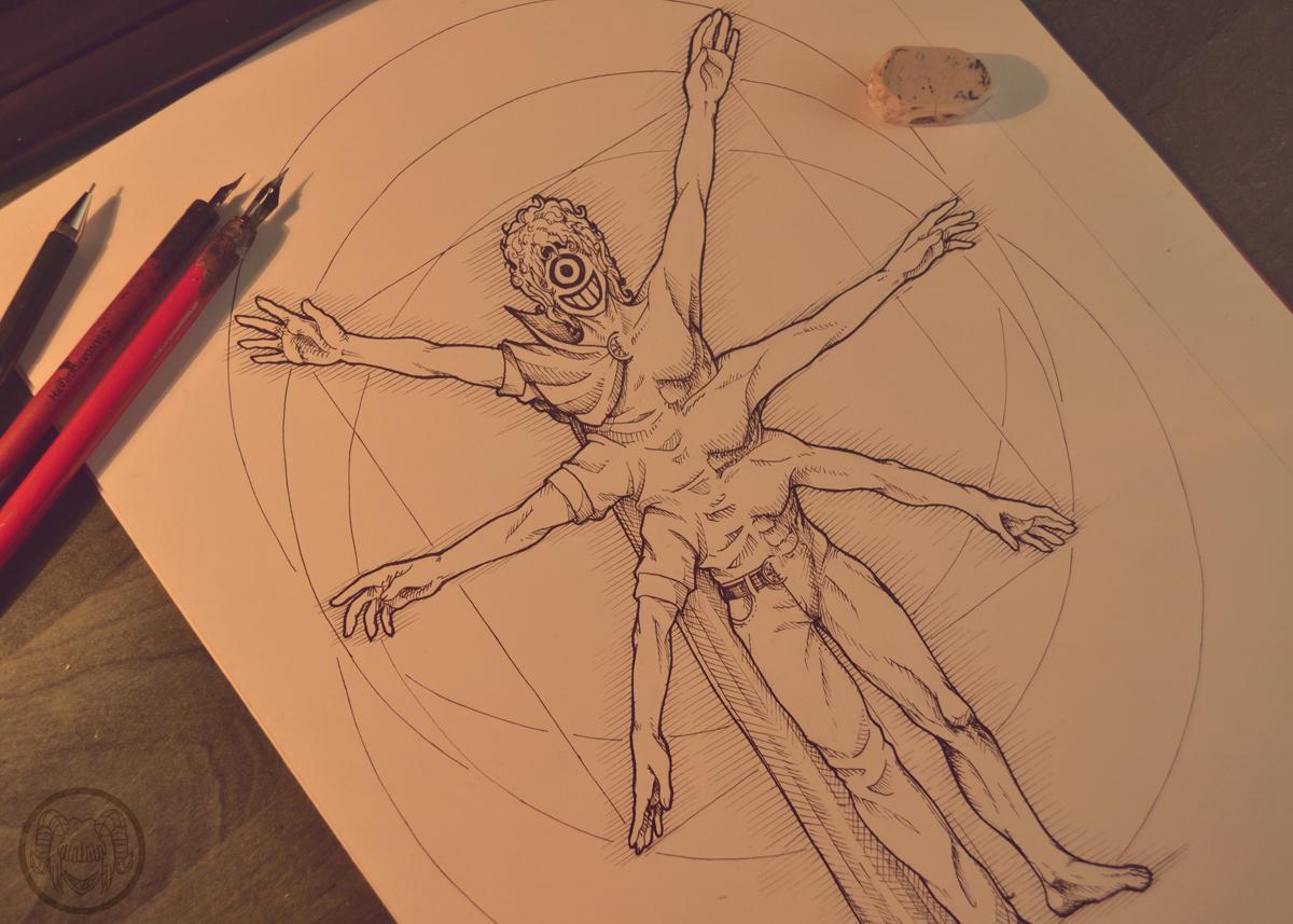 Vitruvian Kaos by Surrial